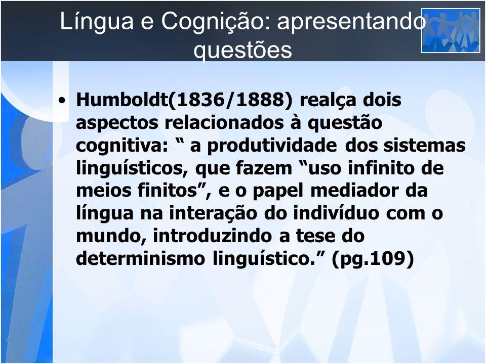 Língua e Cognição: apresentando questões