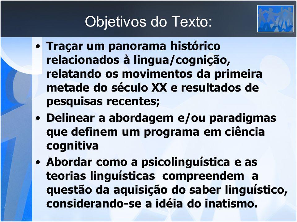 Objetivos do Texto: