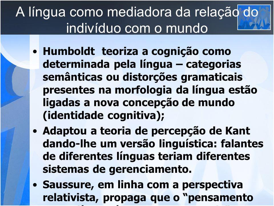 A língua como mediadora da relação do indivíduo com o mundo
