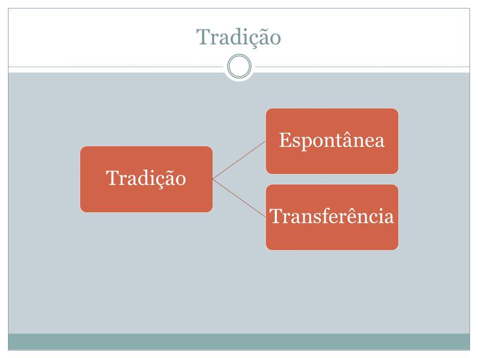 Tradição Tradição Espontânea Transferência