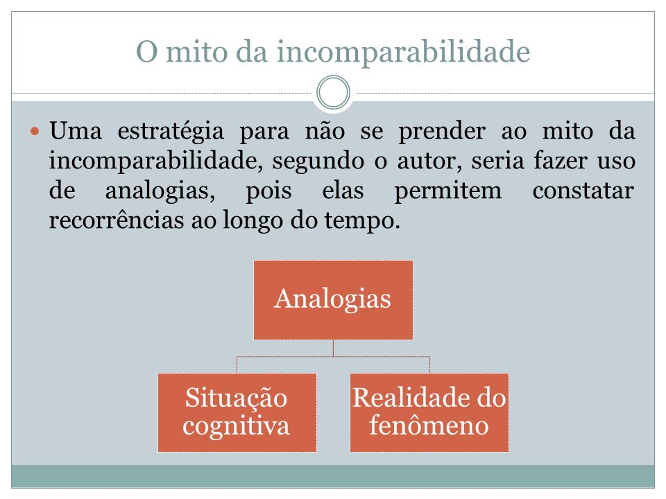 O mito da incomparabilidade