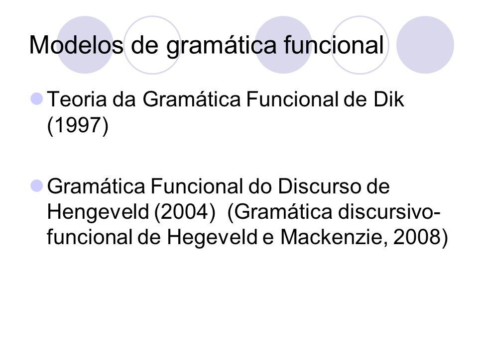 Modelos de gramática funcional