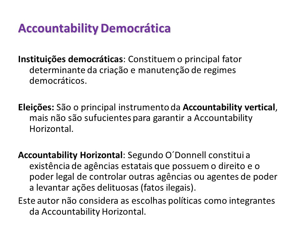Accountability Democrática