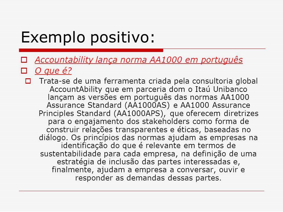 Exemplo positivo: Accountability lança norma AA1000 em português
