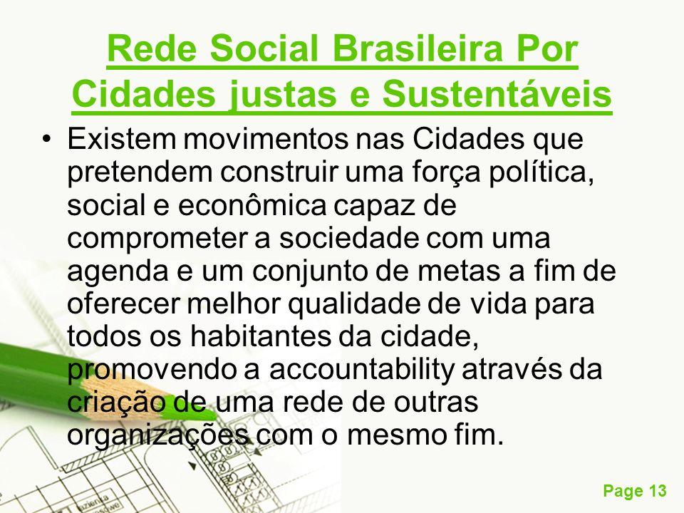 Rede Social Brasileira Por Cidades justas e Sustentáveis
