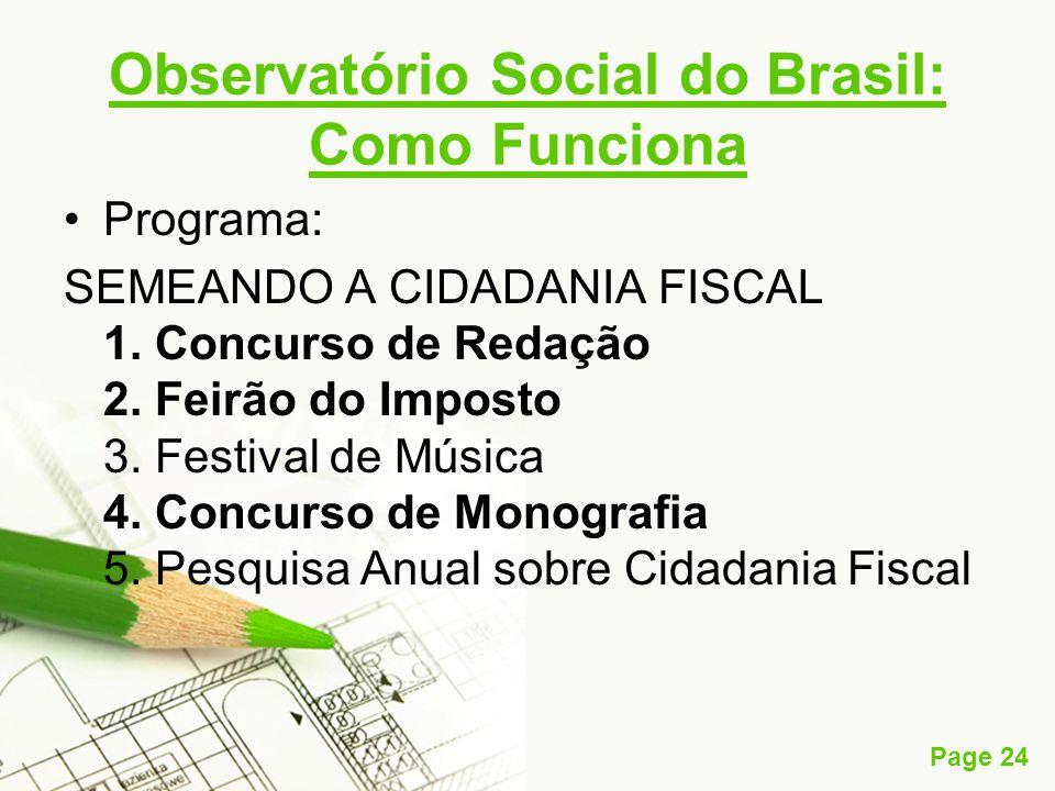 Observatório Social do Brasil: Como Funciona
