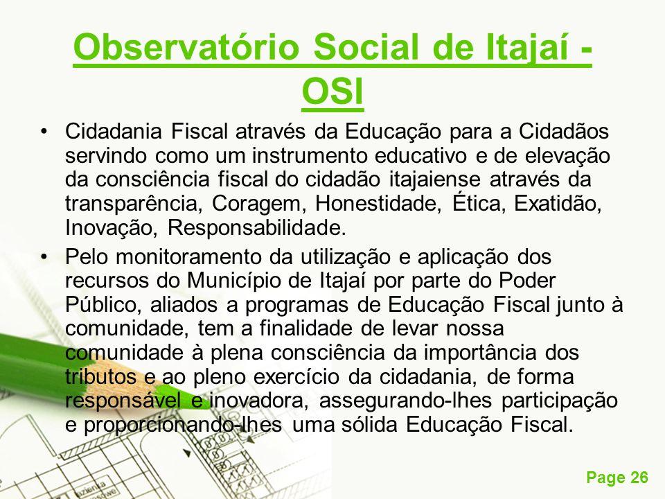 Observatório Social de Itajaí - OSI