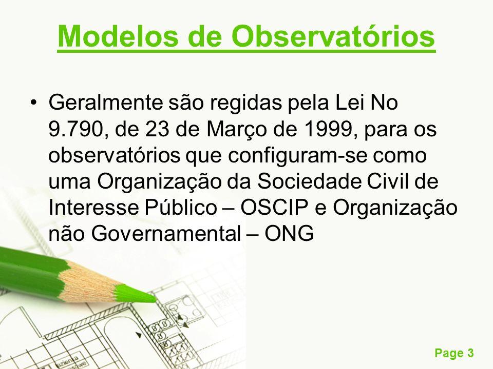 Modelos de Observatórios
