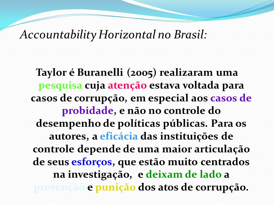 Accountability Horizontal no Brasil: