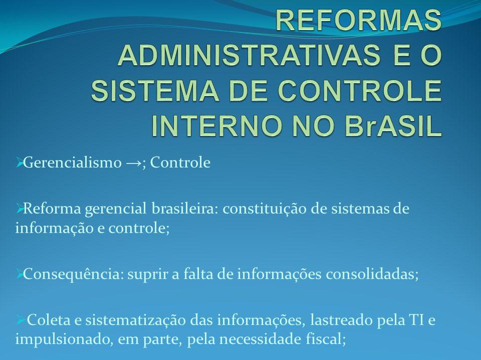 REFORMAS ADMINISTRATIVAS E O SISTEMA DE CONTROLE INTERNO NO BrASIL