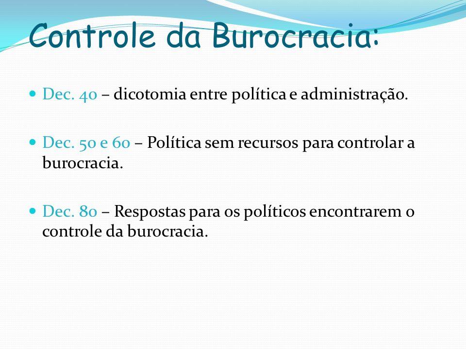 Controle da Burocracia: