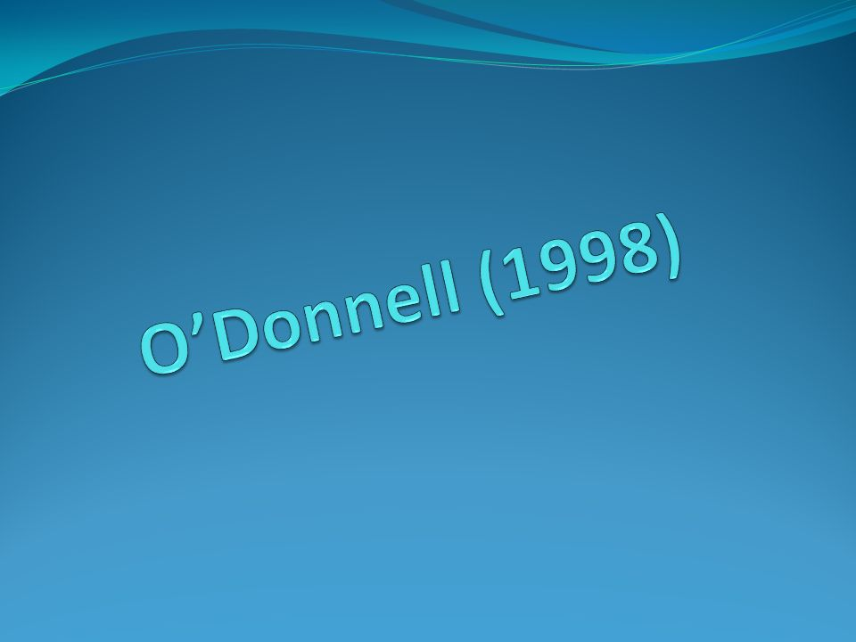 O'Donnell (1998)