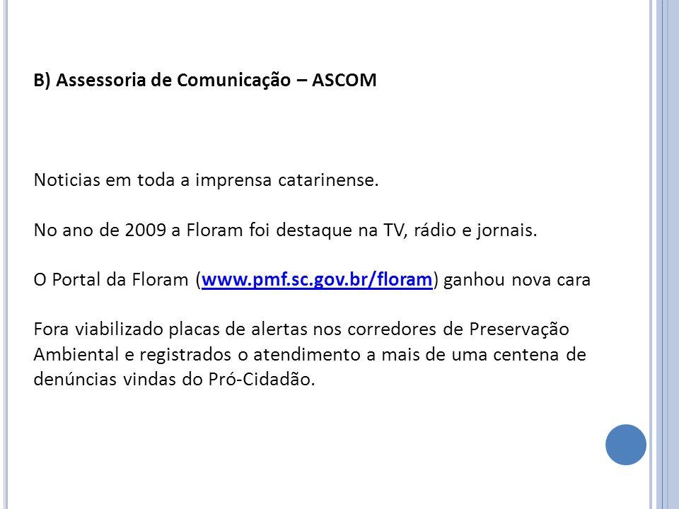 B) Assessoria de Comunicação – ASCOM