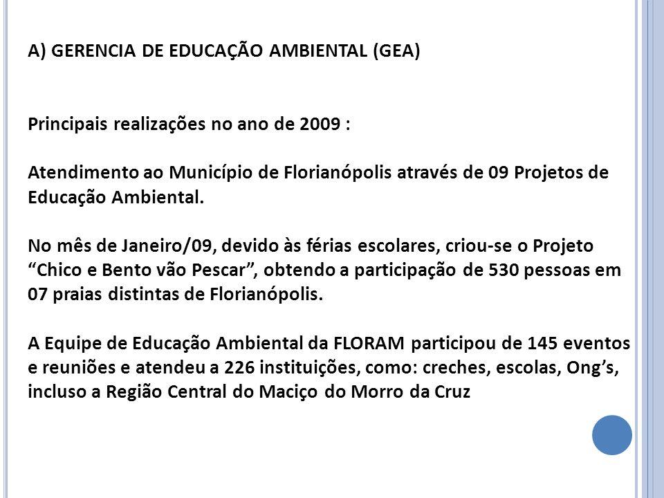 A) GERENCIA DE EDUCAÇÃO AMBIENTAL (GEA)