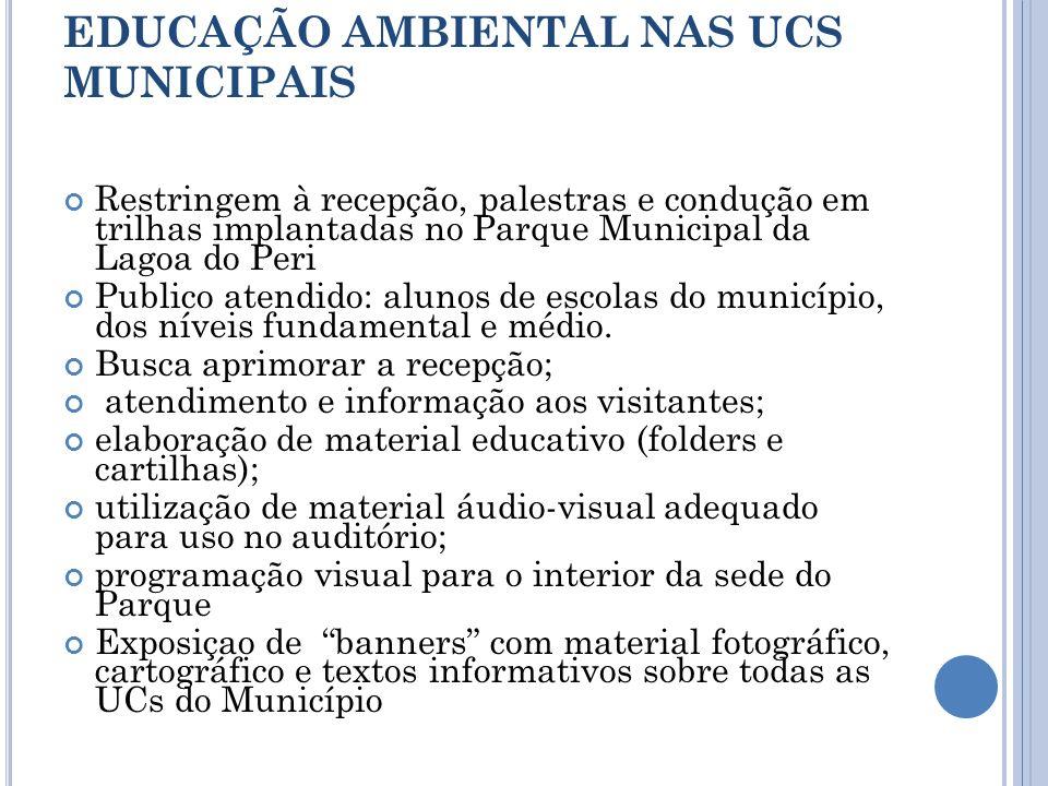 EDUCAÇÃO AMBIENTAL NAS UCS MUNICIPAIS