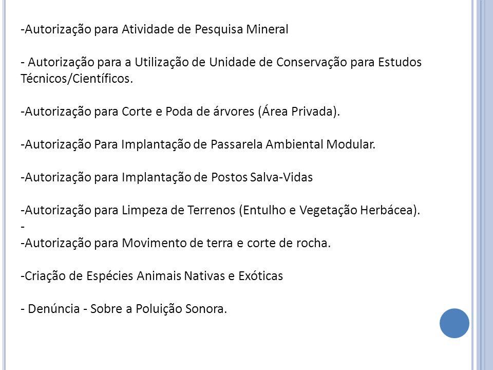 Autorização para Atividade de Pesquisa Mineral