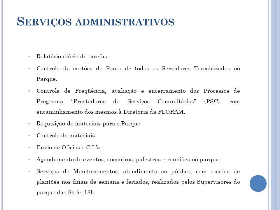Serviços administrativos