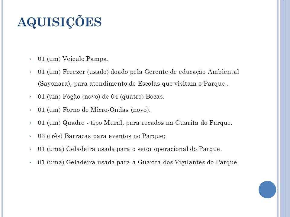 AQUISIÇÕES 01 (um) Veículo Pampa.