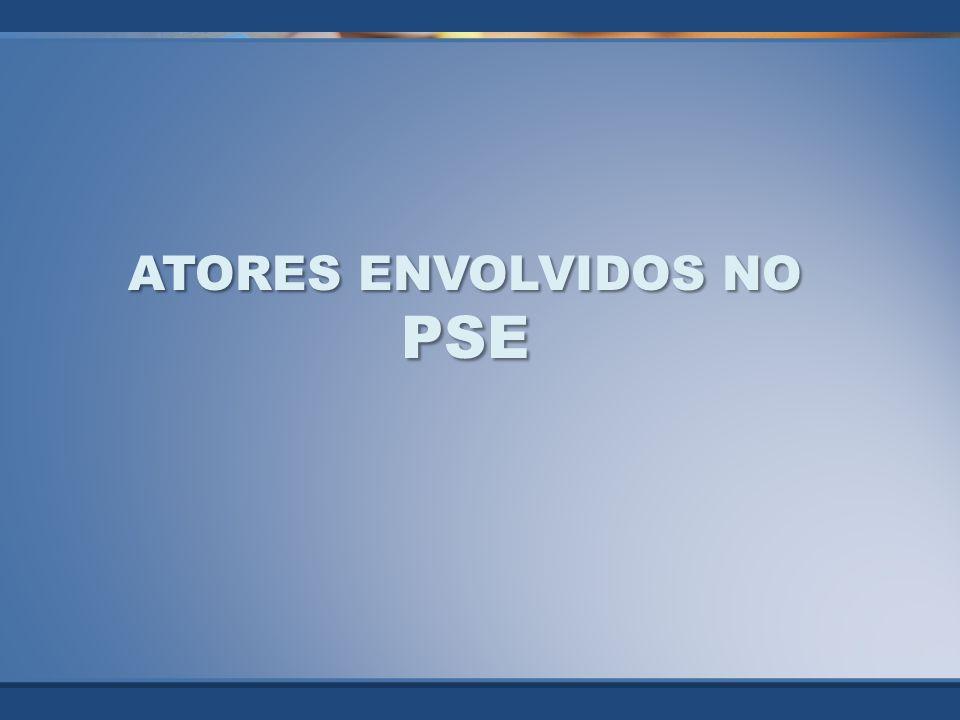 ATORES ENVOLVIDOS NO PSE