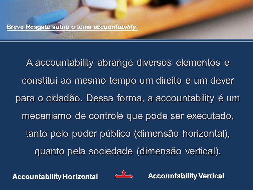 Breve Resgate sobre o tema accountability: