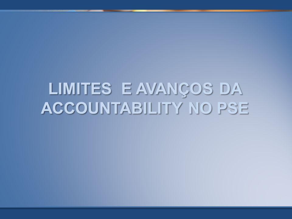 LIMITES E AVANÇOS DA ACCOUNTABILITY NO PSE