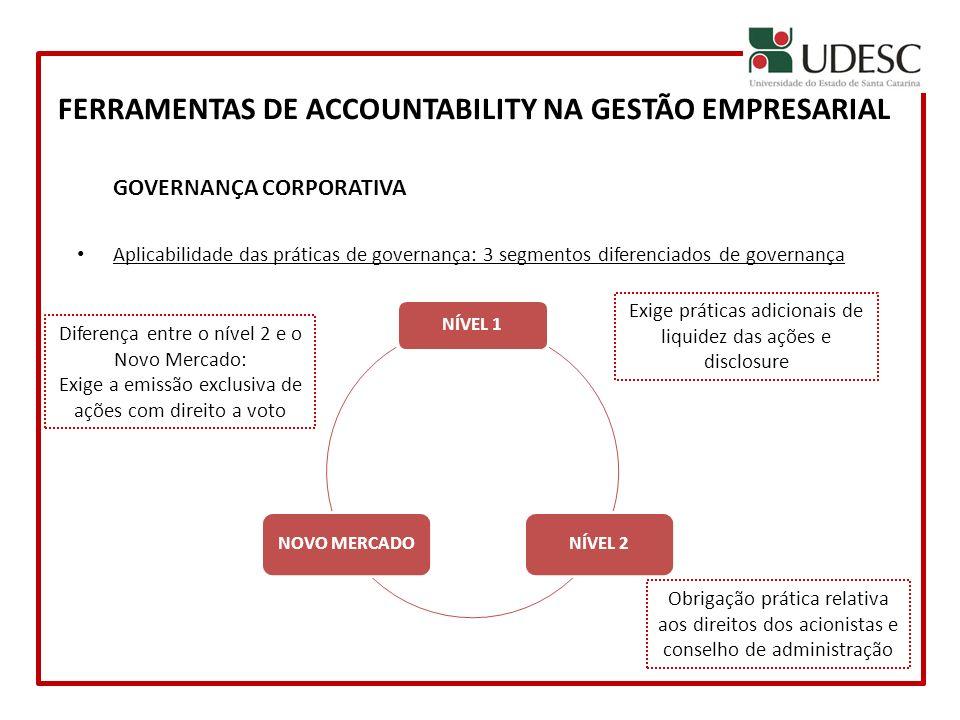 FERRAMENTAS DE ACCOUNTABILITY NA GESTÃO EMPRESARIAL