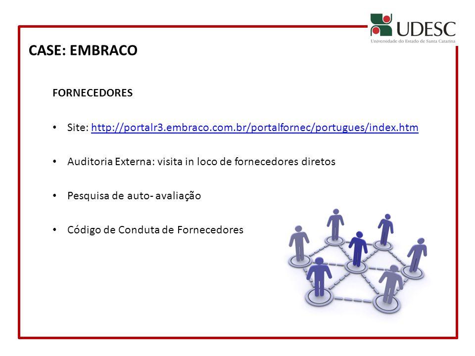 CASE: EMBRACO FORNECEDORES