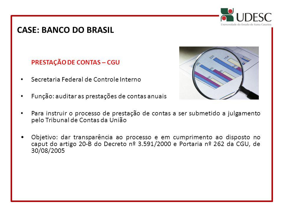 CASE: BANCO DO BRASIL PRESTAÇÃO DE CONTAS – CGU