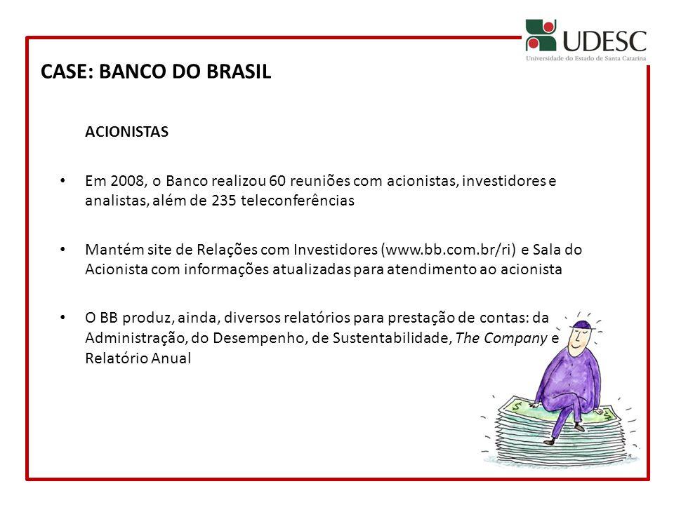 CASE: BANCO DO BRASIL ACIONISTAS