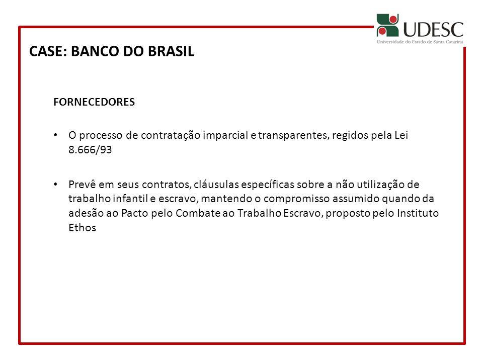 CASE: BANCO DO BRASIL FORNECEDORES