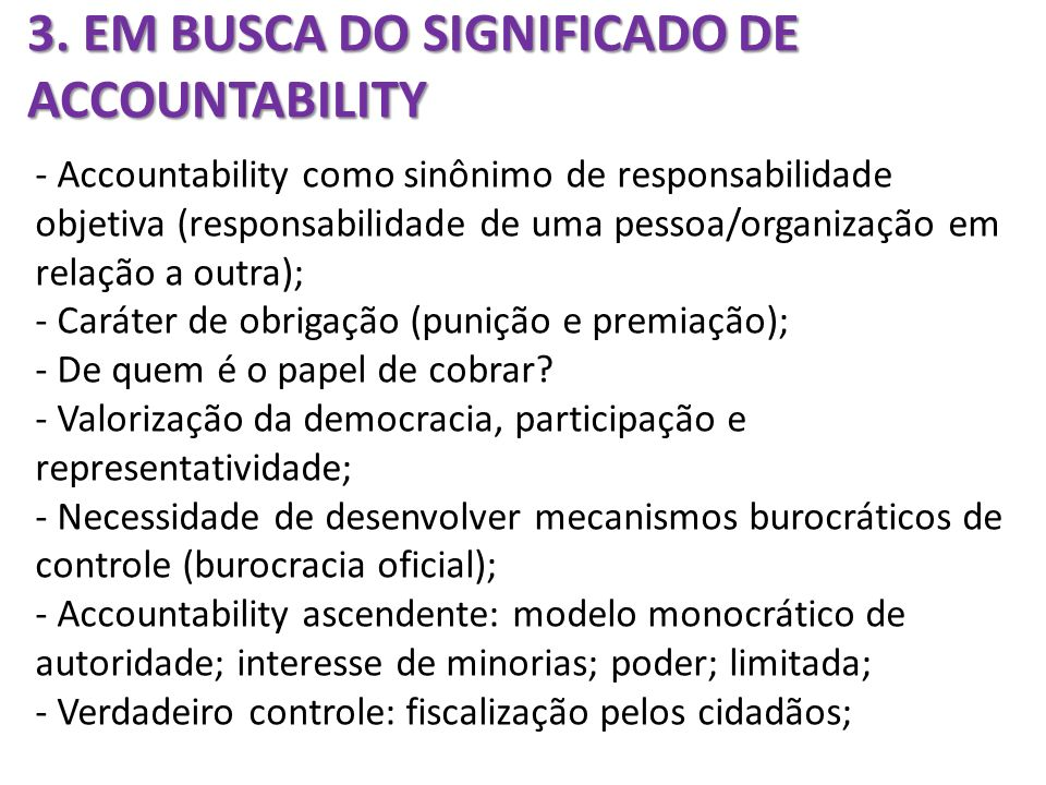 3. EM BUSCA DO SIGNIFICADO DE ACCOUNTABILITY