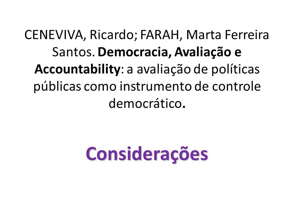 CENEVIVA, Ricardo; FARAH, Marta Ferreira Santos