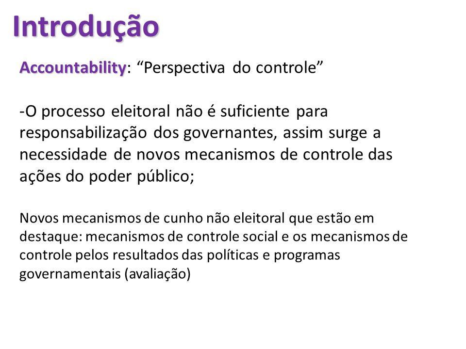 Introdução Accountability: Perspectiva do controle