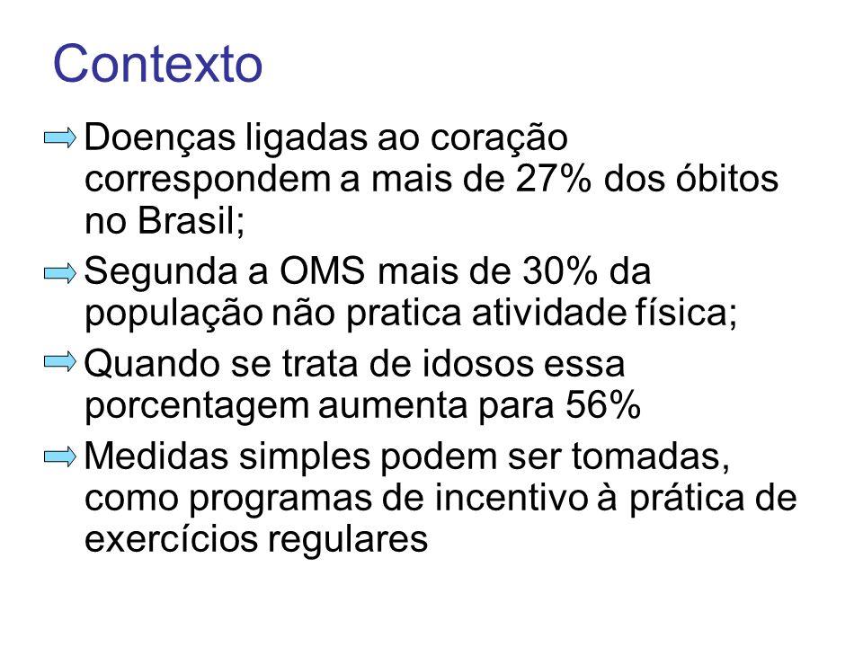 Contexto Doenças ligadas ao coração correspondem a mais de 27% dos óbitos no Brasil;