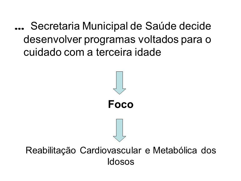 Foco Reabilitação Cardiovascular e Metabólica dos Idosos