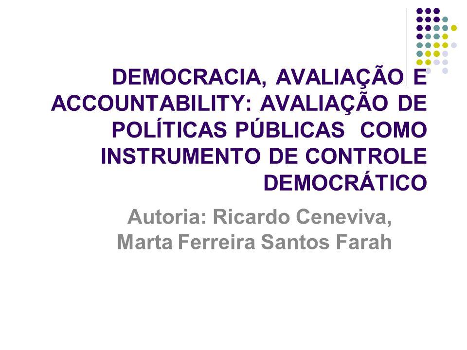 Autoria: Ricardo Ceneviva, Marta Ferreira Santos Farah