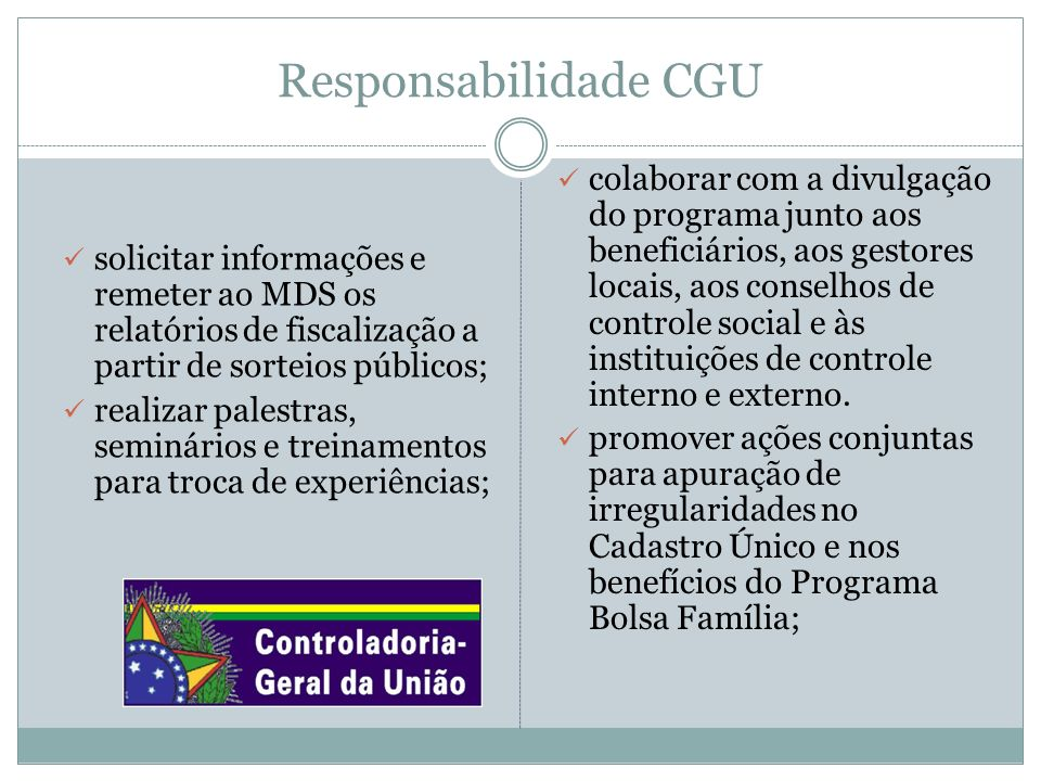 Responsabilidade CGU