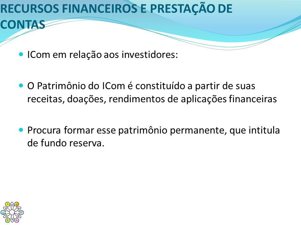 RECURSOS FINANCEIROS E PRESTAÇÃO DE CONTAS