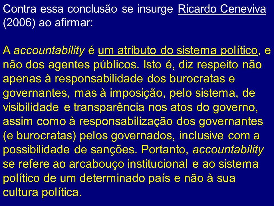 Contra essa conclusão se insurge Ricardo Ceneviva (2006) ao afirmar: