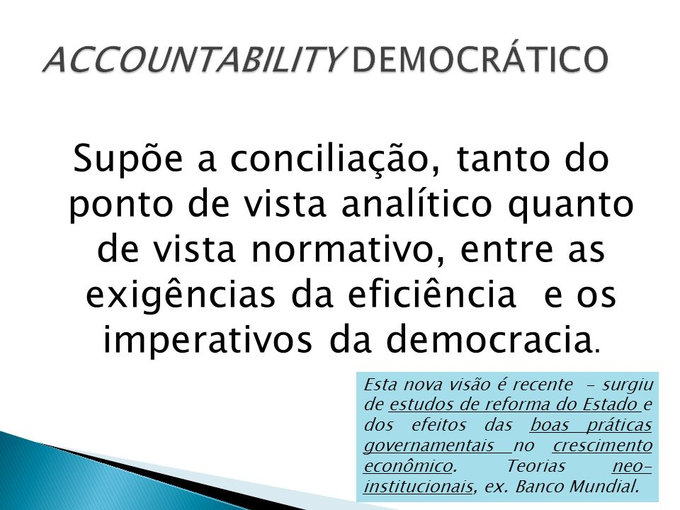 ACCOUNTABILITY DEMOCRÁTICO