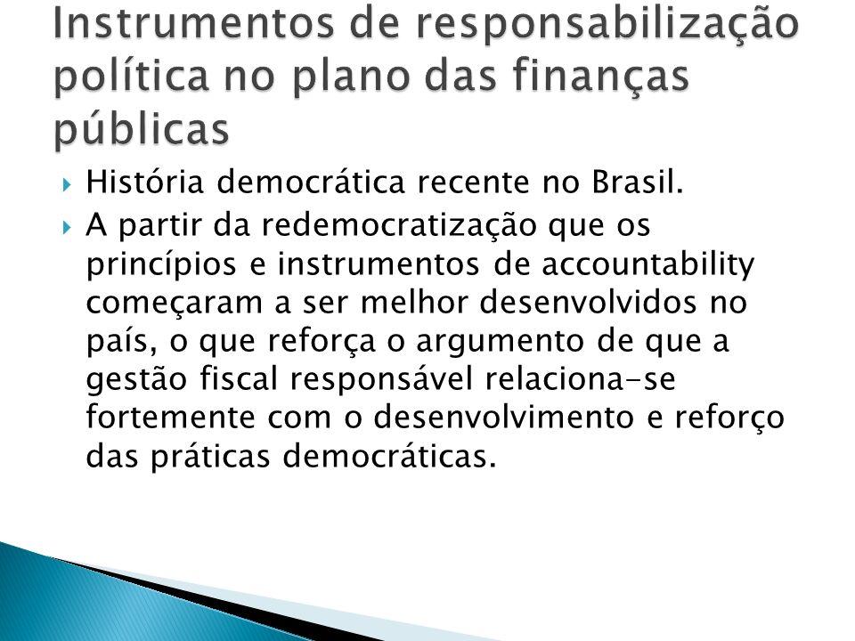 Instrumentos de responsabilização política no plano das finanças públicas