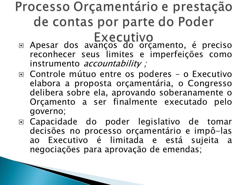 Processo Orçamentário e prestação de contas por parte do Poder Executivo