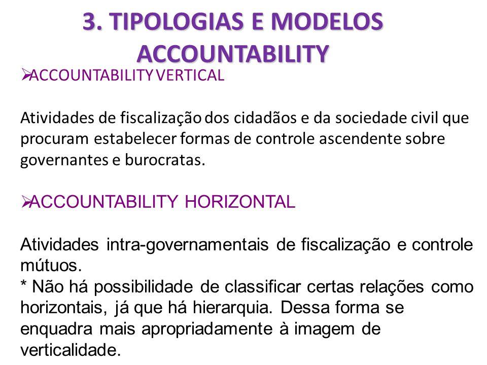 3. TIPOLOGIAS E MODELOS ACCOUNTABILITY
