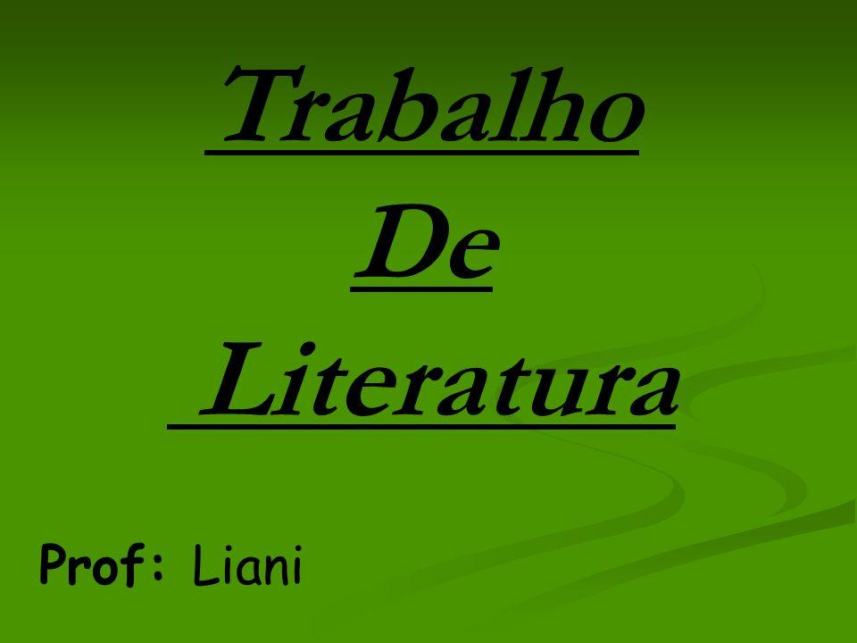 Trabalho De Literatura
