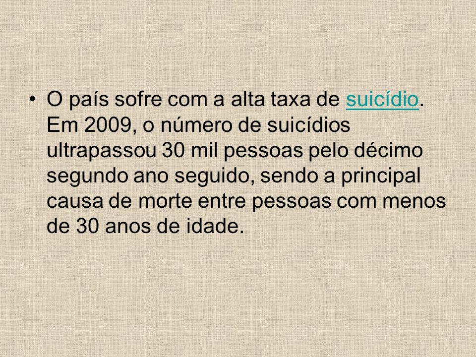 O país sofre com a alta taxa de suicídio