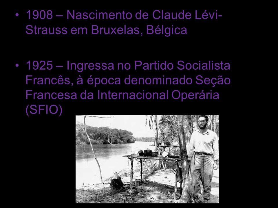 1908 – Nascimento de Claude Lévi-Strauss em Bruxelas, Bélgica