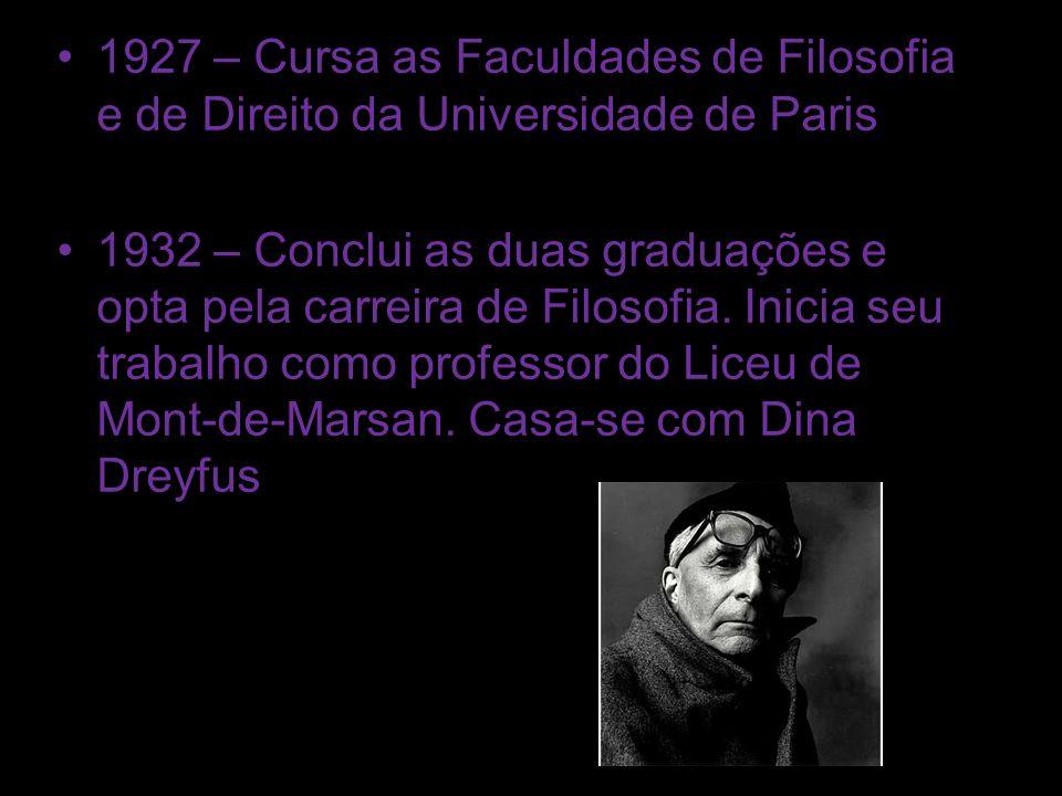 1927 – Cursa as Faculdades de Filosofia e de Direito da Universidade de Paris