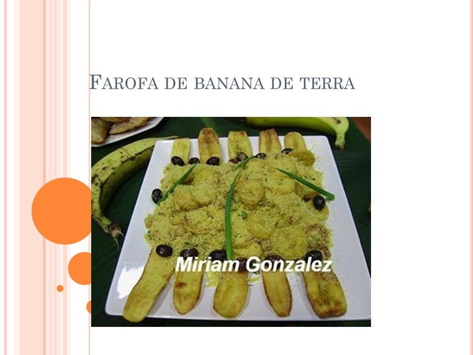 Farofa de banana de terra