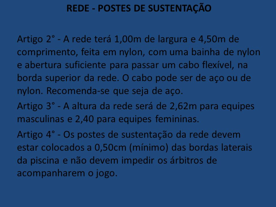REDE - POSTES DE SUSTENTAÇÃO
