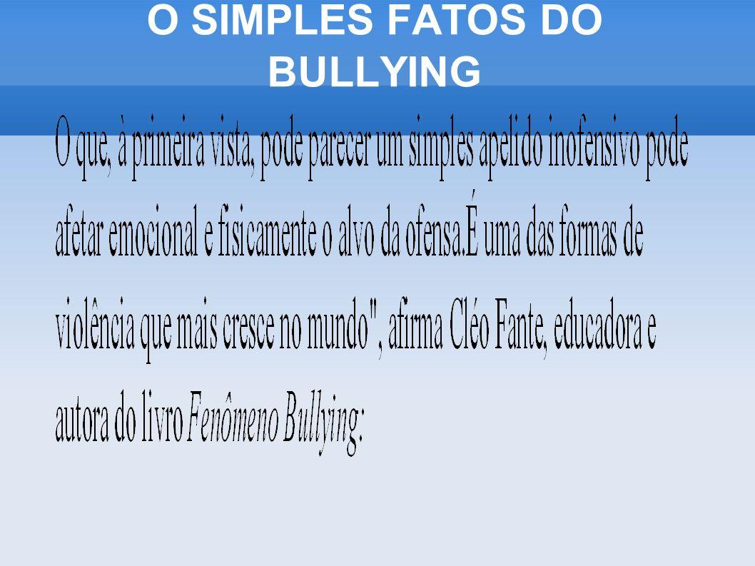 O SIMPLES FATOS DO BULLYING
